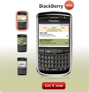 To download OpenTable for BlackBerry, visit www.getjar.com/products/28420/OpenTable.
