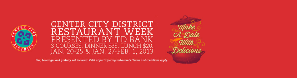 Center City District Restaurant Week - Participating Restaurants