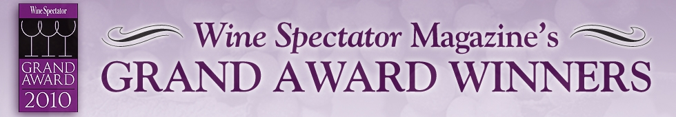 2010 Wine Spectator Grand Award Winners