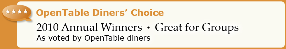 Top 50 Good for Groups Restaurants - 2010 Diners' Choice Winners