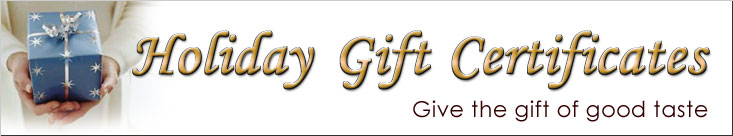 Gift Certificates -  Participating Restaurants