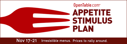 OpenTable Appetite Stimulus Plan - New England Restaurants