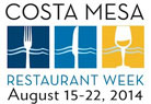 Costa Mesa Restaurant Week Image