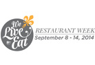 We Live to Eat Restaurant Week Image